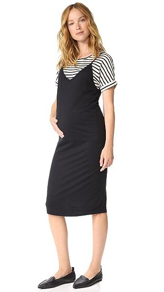 MONROW Maternity Slip Dress with Tee