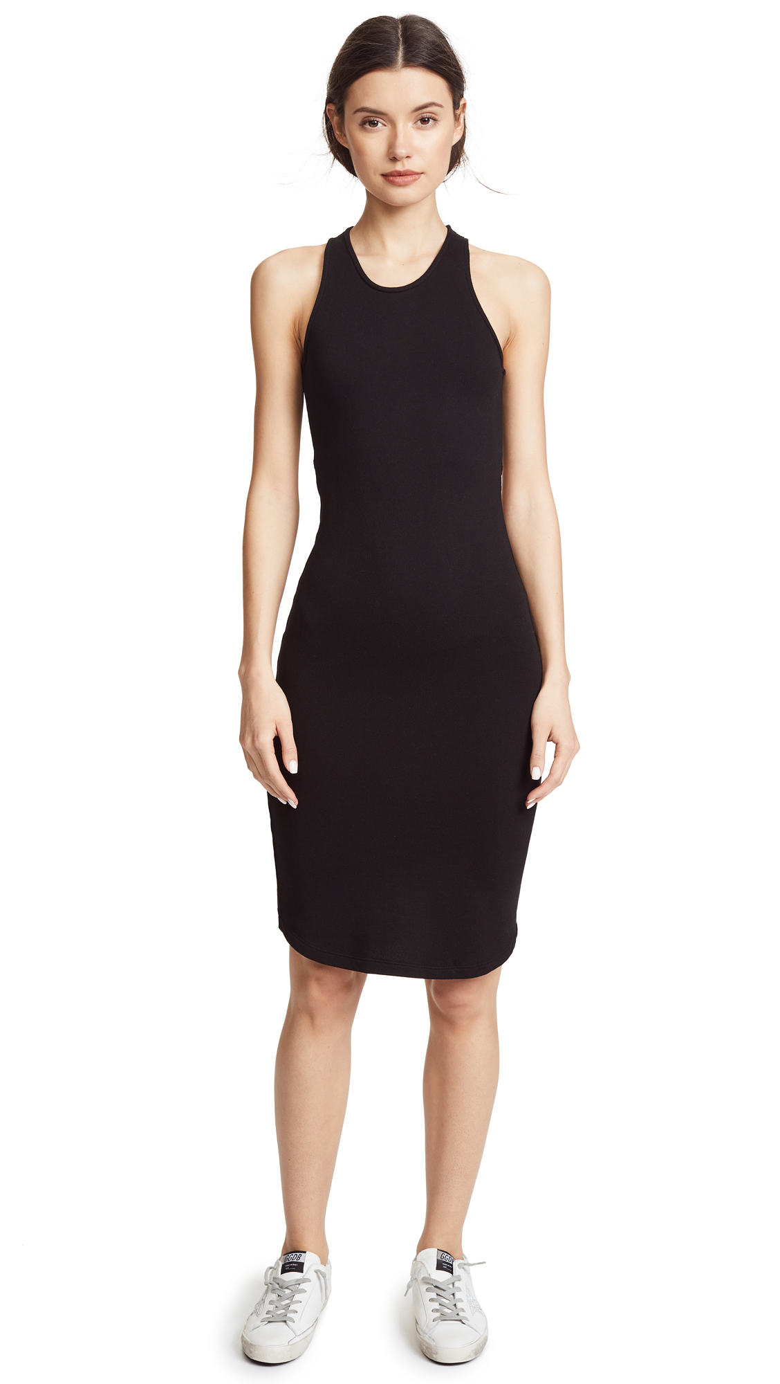MONROW Cutout Back Dress In Black