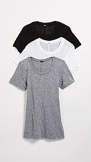 MONROW 3 件套圆领 T 恤
