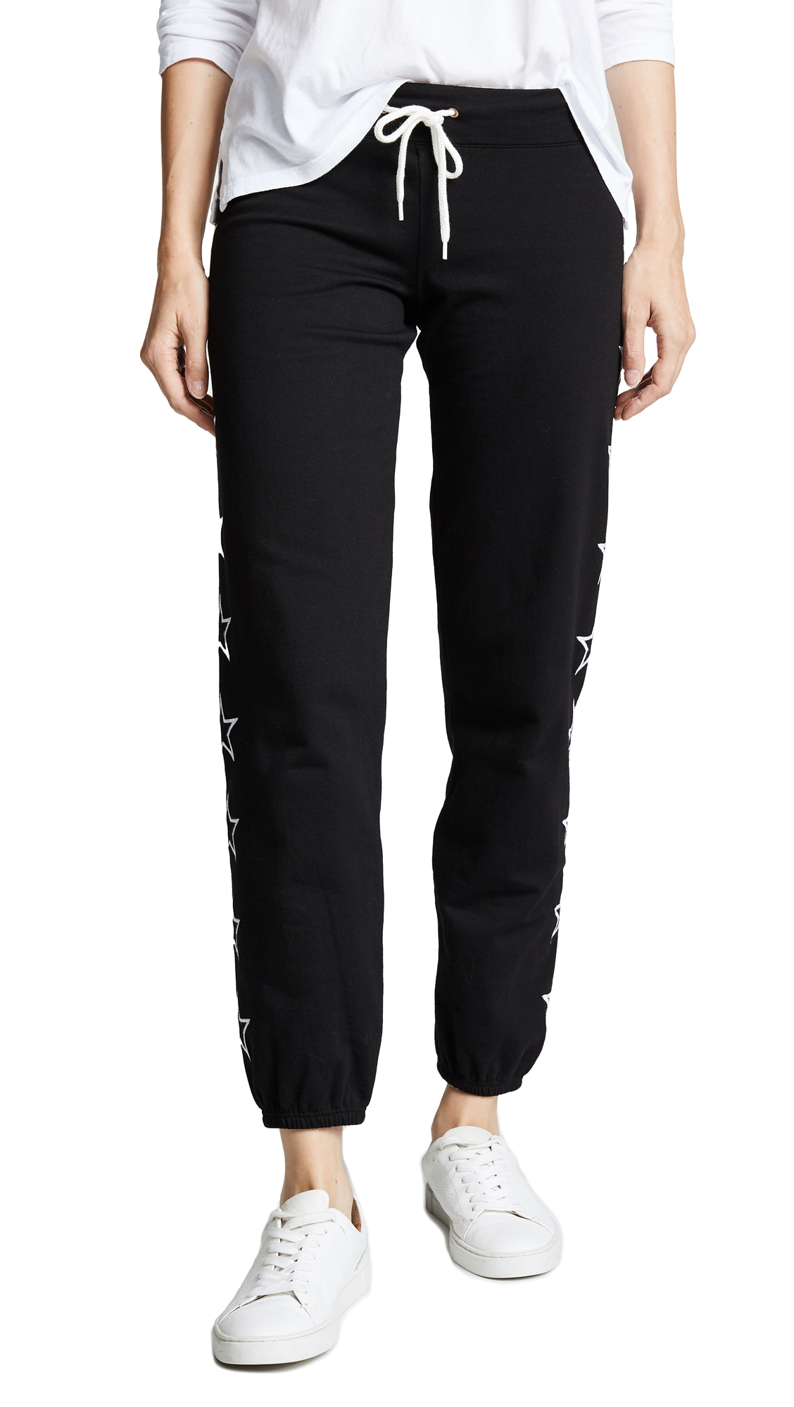 MONROW Star Sweatpants In Black