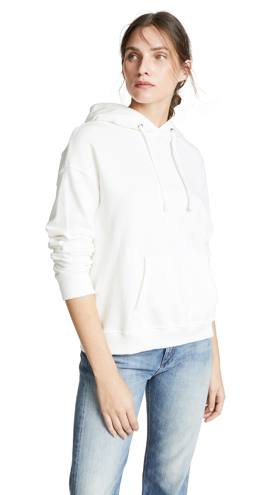 MONROW Oversized Hoodie In Natural