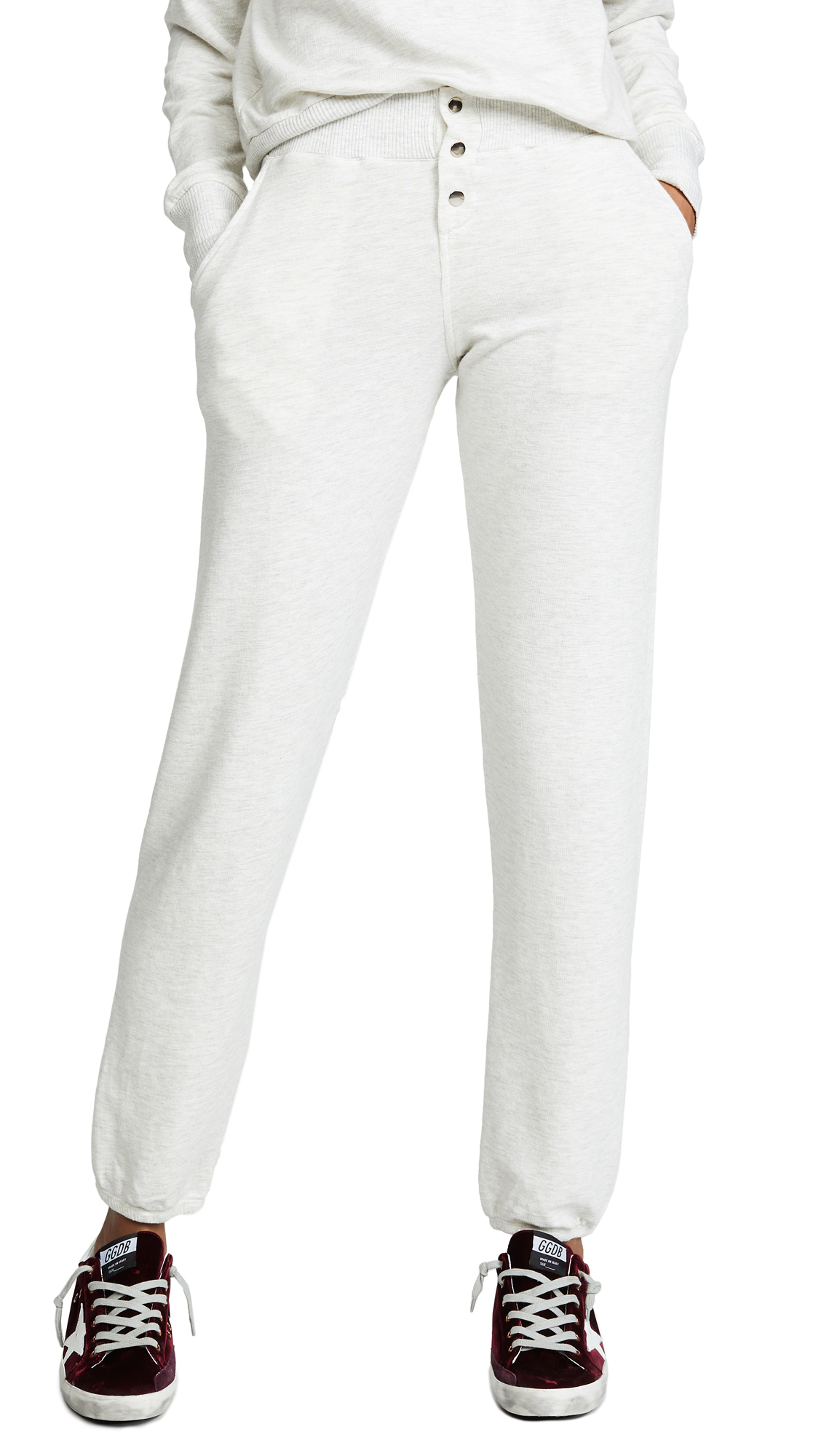 MONROW Supersoft Vintage Sweatpants In Ash