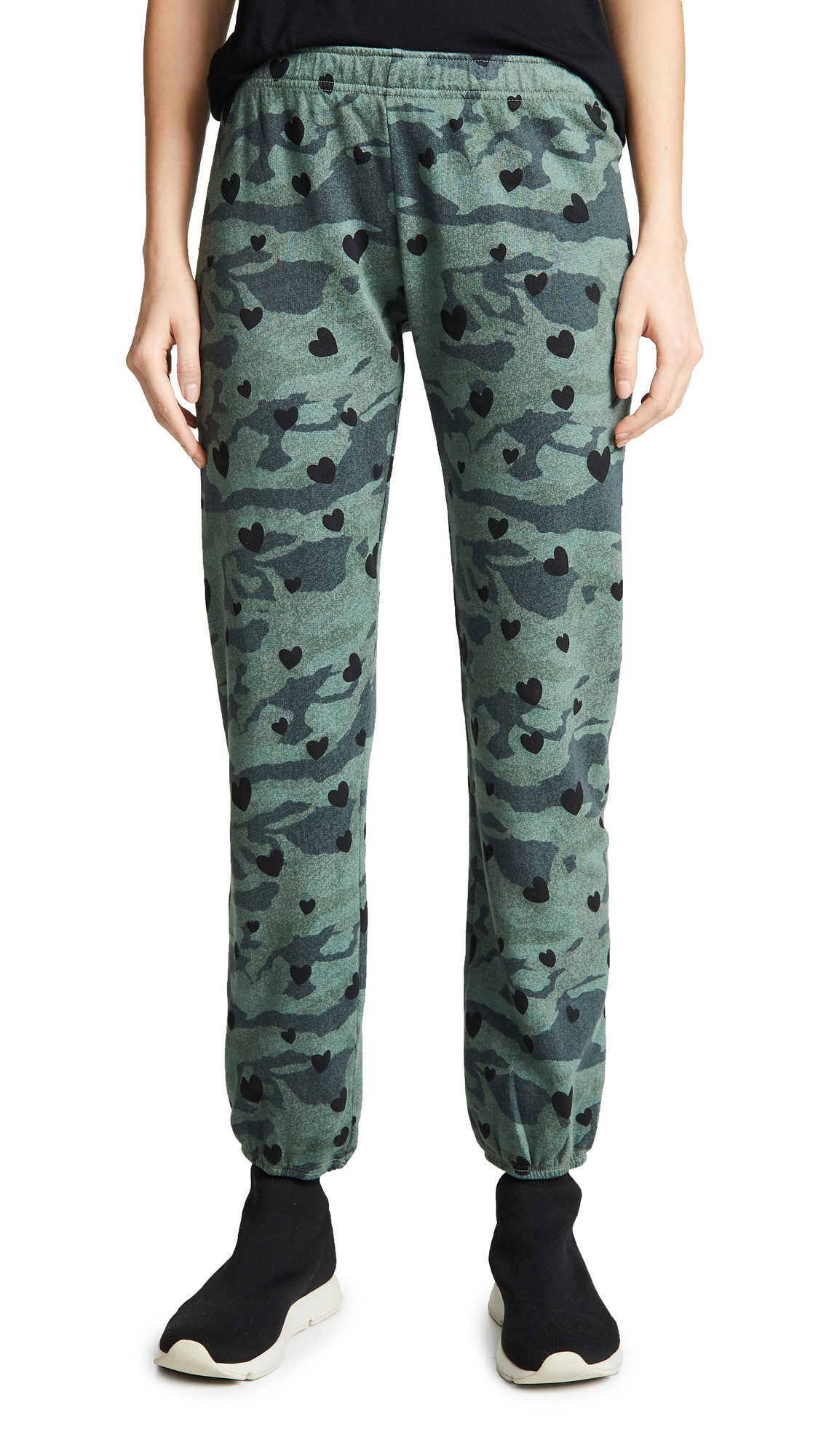 Camo Sweats With Hearts in Cactus