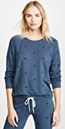 MONROW Allover Star Raglan Sweatshirt