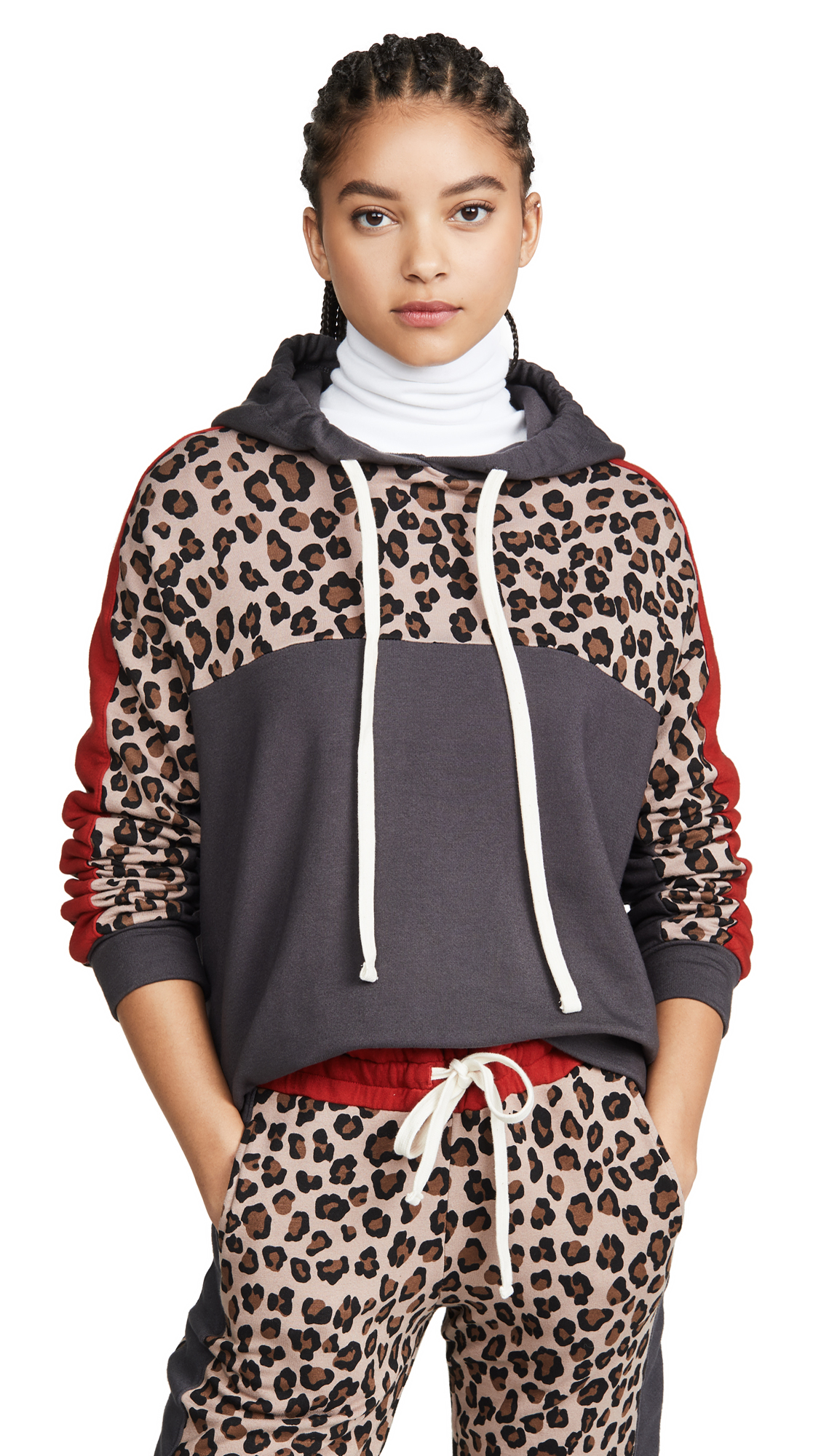 Buy MONROW online - photo of MONROW Print Block Pullover Hoodie