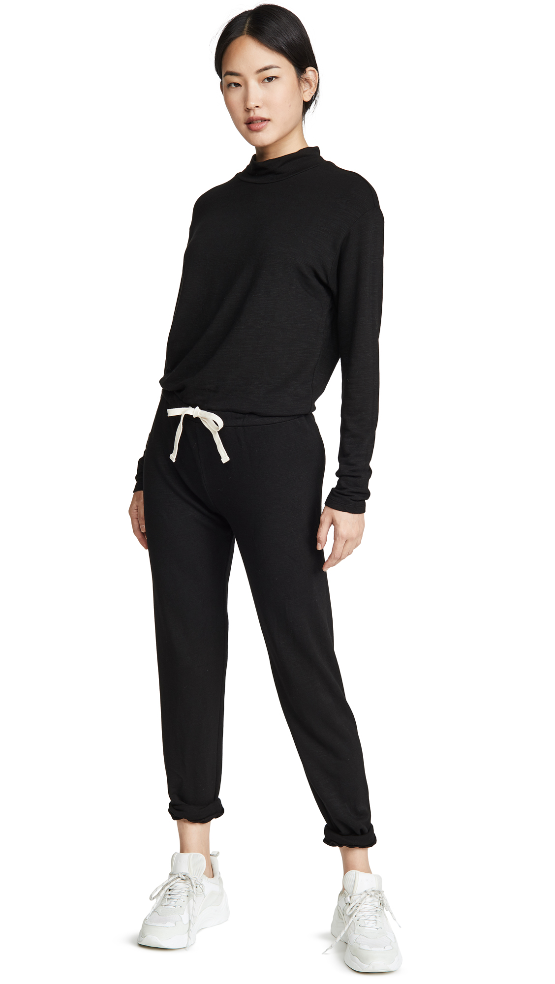 Buy MONROW online - photo of MONROW Supersoft Cowl Cuff Jumpsuit