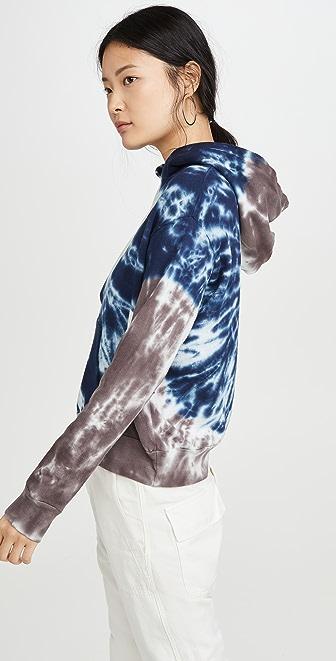Monrow Womens Sun Burst Tie Dye Relaxed Pullover