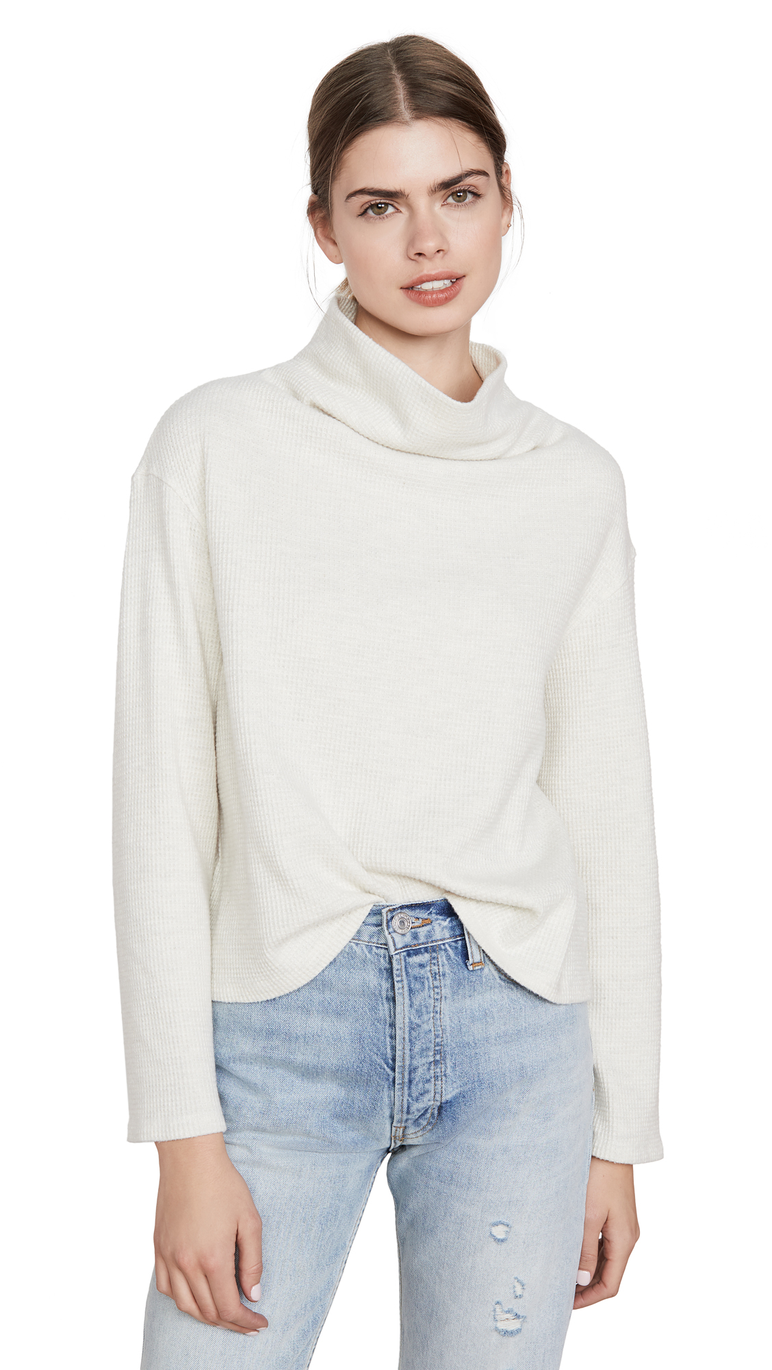Buy MONROW online - photo of MONROW Cowl Neck Sweatshirt