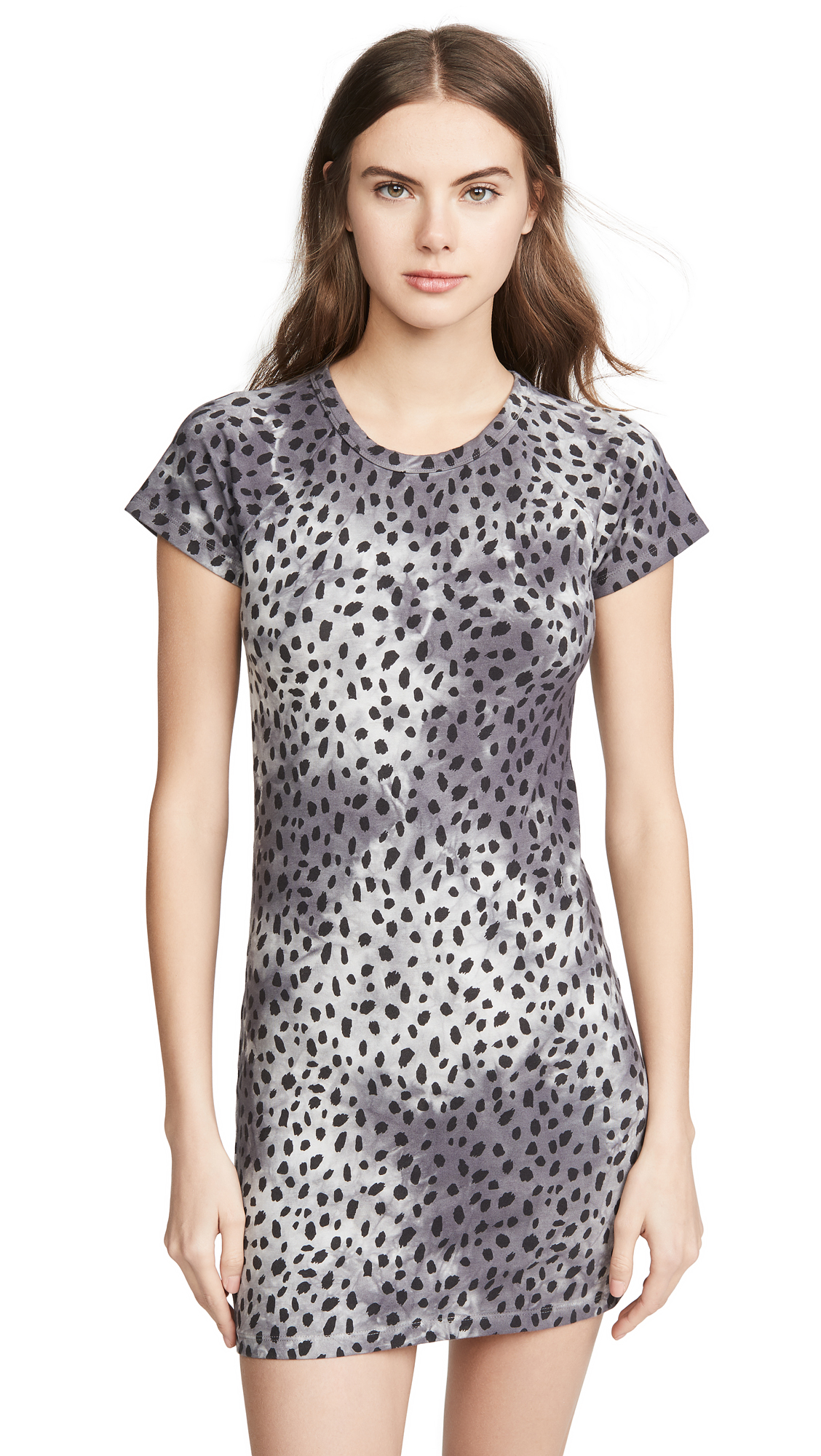 Buy MONROW Cheetah Cap Sleeve Tee Dress online beautiful MONROW Clothing, Dresses