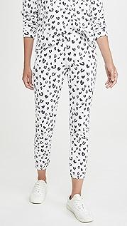 MONROW Спортивные брюки Heart с леопардовым принтом