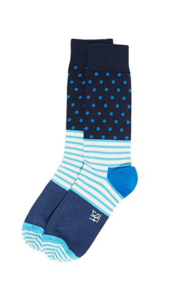 HS Stripe & Dots Socks