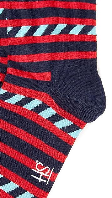 HS Stripes & Stripes Socks