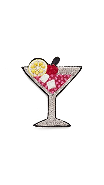 Huda Al Nuaimi Martini Glass Pin - Multi