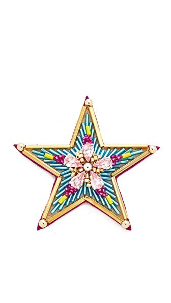 Huda Al Nuaimi Blue Star Pin at Shopbop