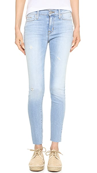 Hudson Nico Mid Rise Ankle Jeans - Blue at Shopbop