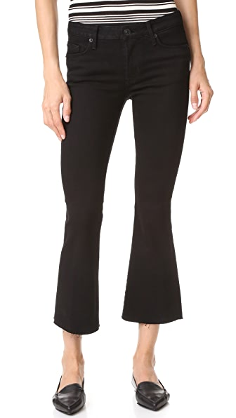 Hudson Mia Crop Flare Jeans - Black at Shopbop