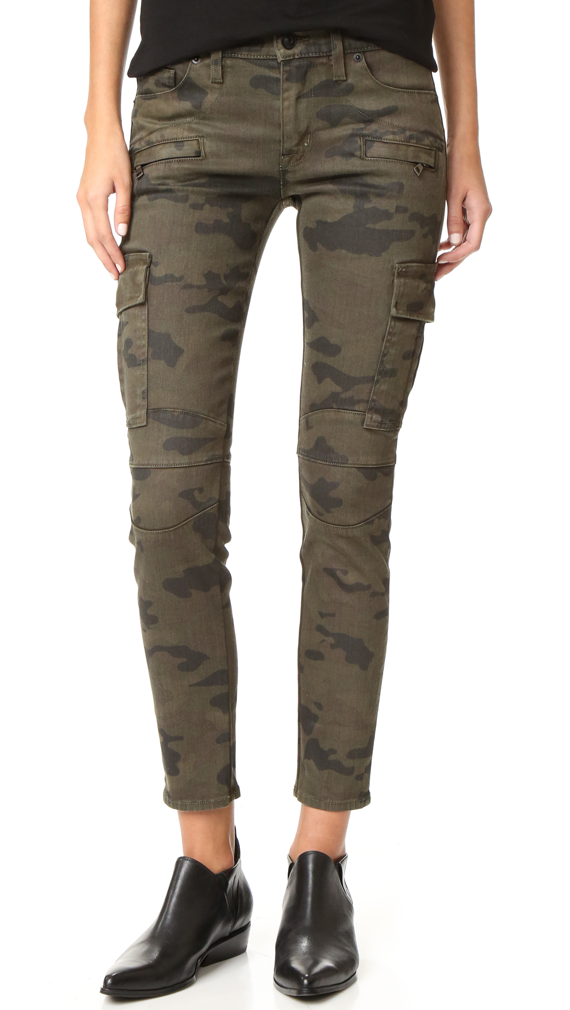 Hudson Colby Ankle Moto Skinny Cargo Jeans - Rustic Camo at Shopbop