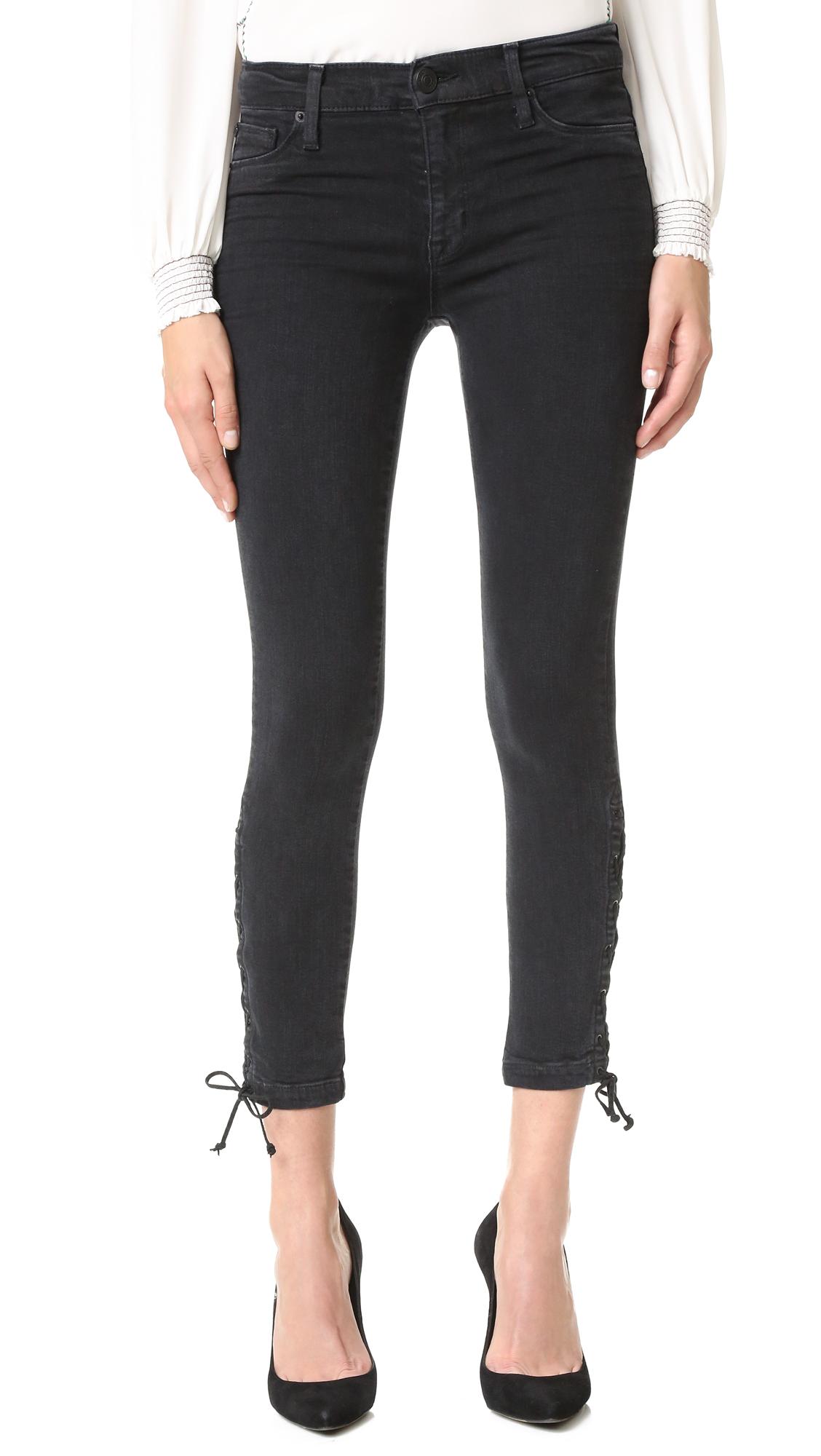 Hudson Nix Lace Up Jeans - Mercury Hail at Shopbop