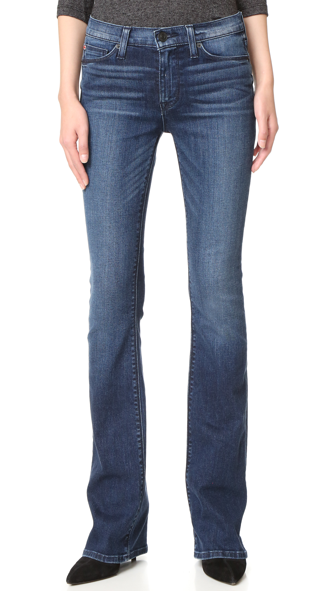 Hudson Love Mid Rise Boot Cut Jeans - Moonshine at Shopbop