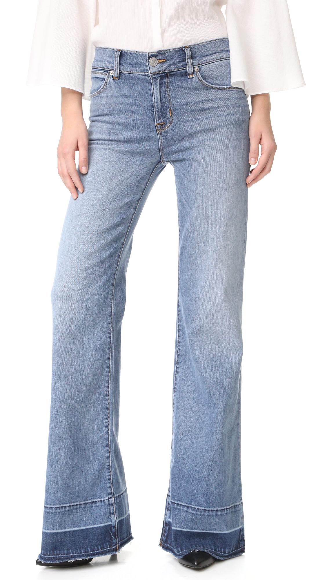 Hudson Dani Wide Leg Released Hem Jeans - Haymaker at Shopbop