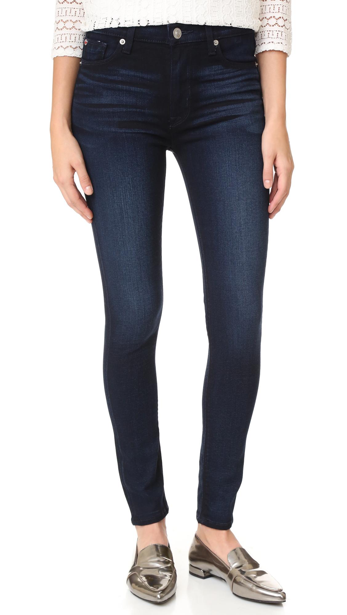 Hudson Barbara High Waisted Super Skinny Jeans - Night Vision at Shopbop
