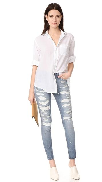Hudson Nico Mid Rise Super Skinny Jeans