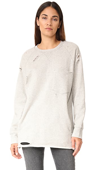Hudson Raglan Sweatshirt - Gray