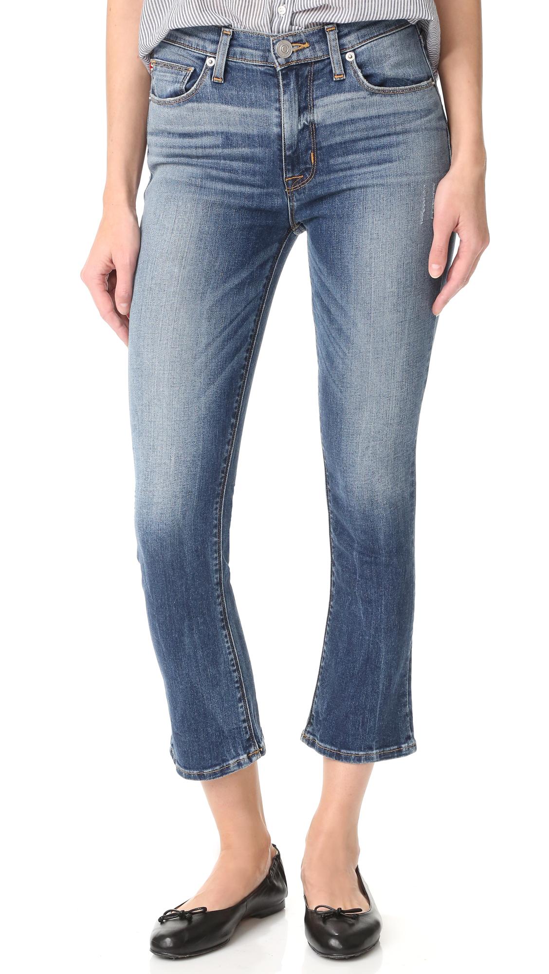 Hudson Harper High Rise Cropped Jeans - Life Line at Shopbop