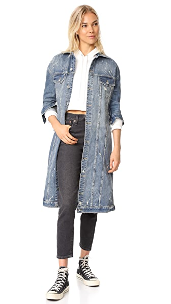 Hudson Denim Duster Jacket In Aftermath