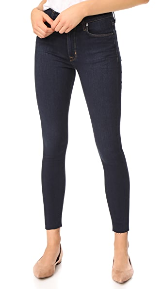 Hudson Barbara High Waist Super Skinny Jeans with Raw Hem - Rover-1