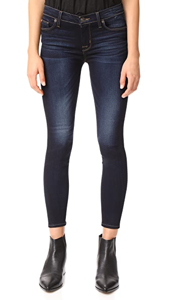 Hudson Nico Mid Rise Ankle Super Skinny Jeans In Calvary