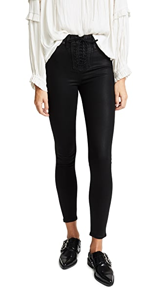 Hudson Bullocks High Rise Lace Up Jeans at Shopbop