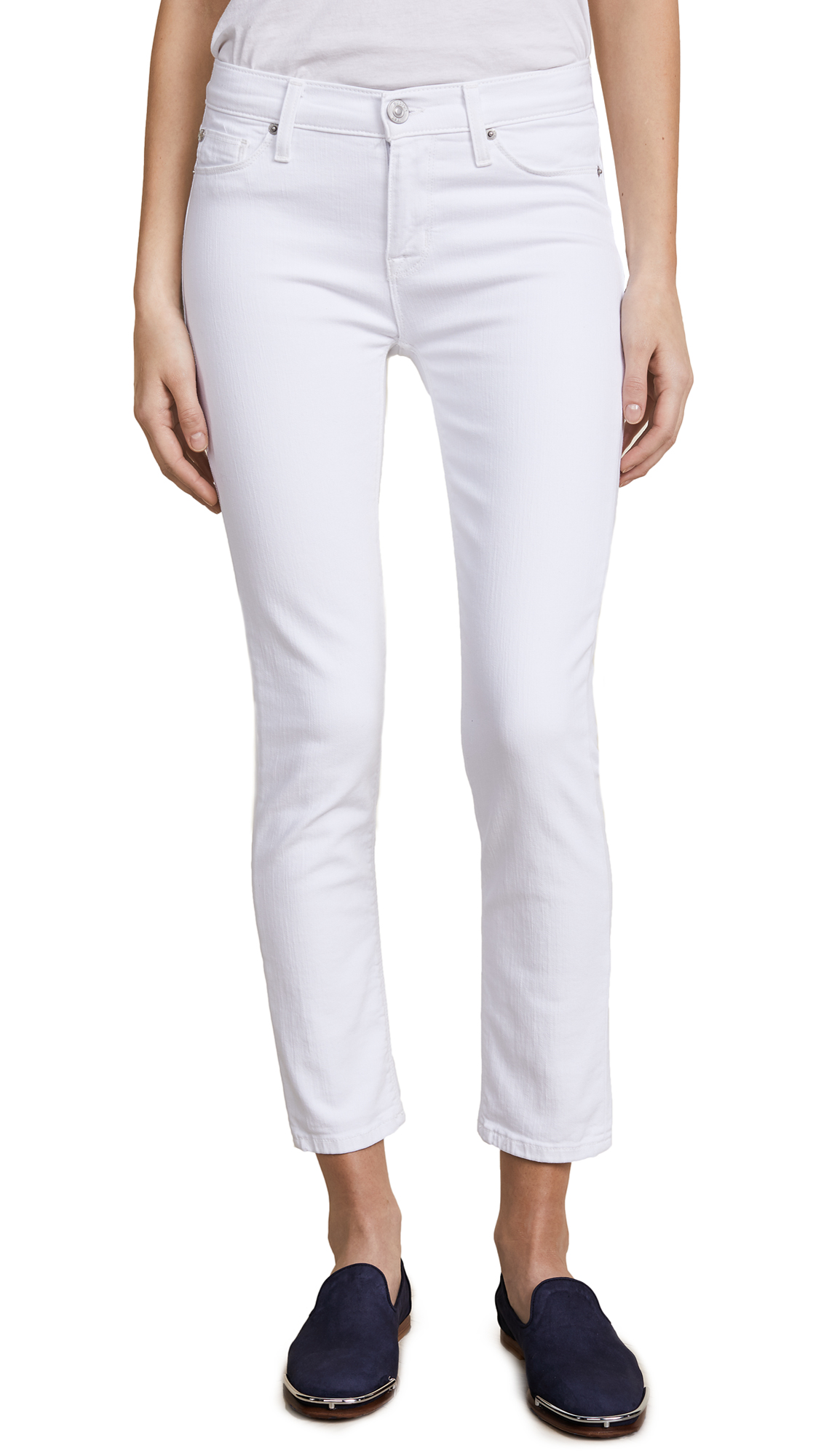 Hudson Tally Midrise Ankle Skinny Jeans In Optical White