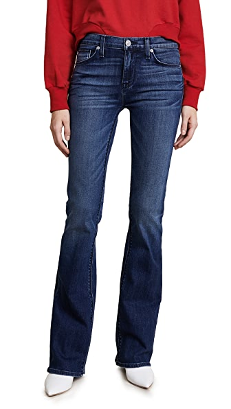 Drew Mid Rise Boot Cut Jeans