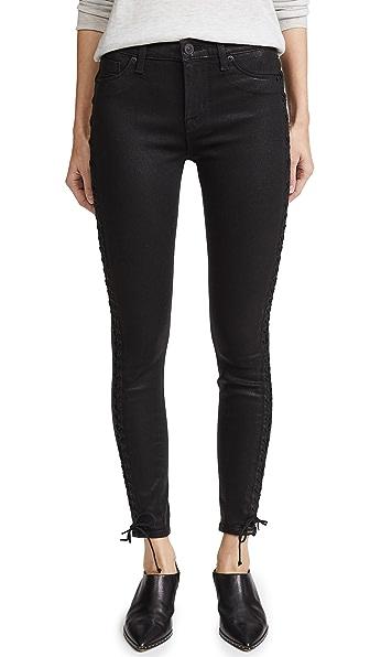 Hudson Stevie Lace Up Skinny Jeans at Shopbop