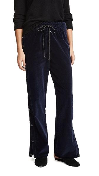 Hudson Aria Velvet Track Pants at Shopbop
