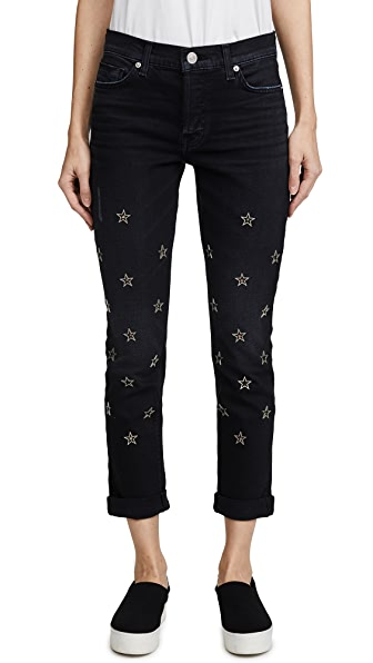 Hudson Riley Crop Relaxed Straight Jeans at Shopbop