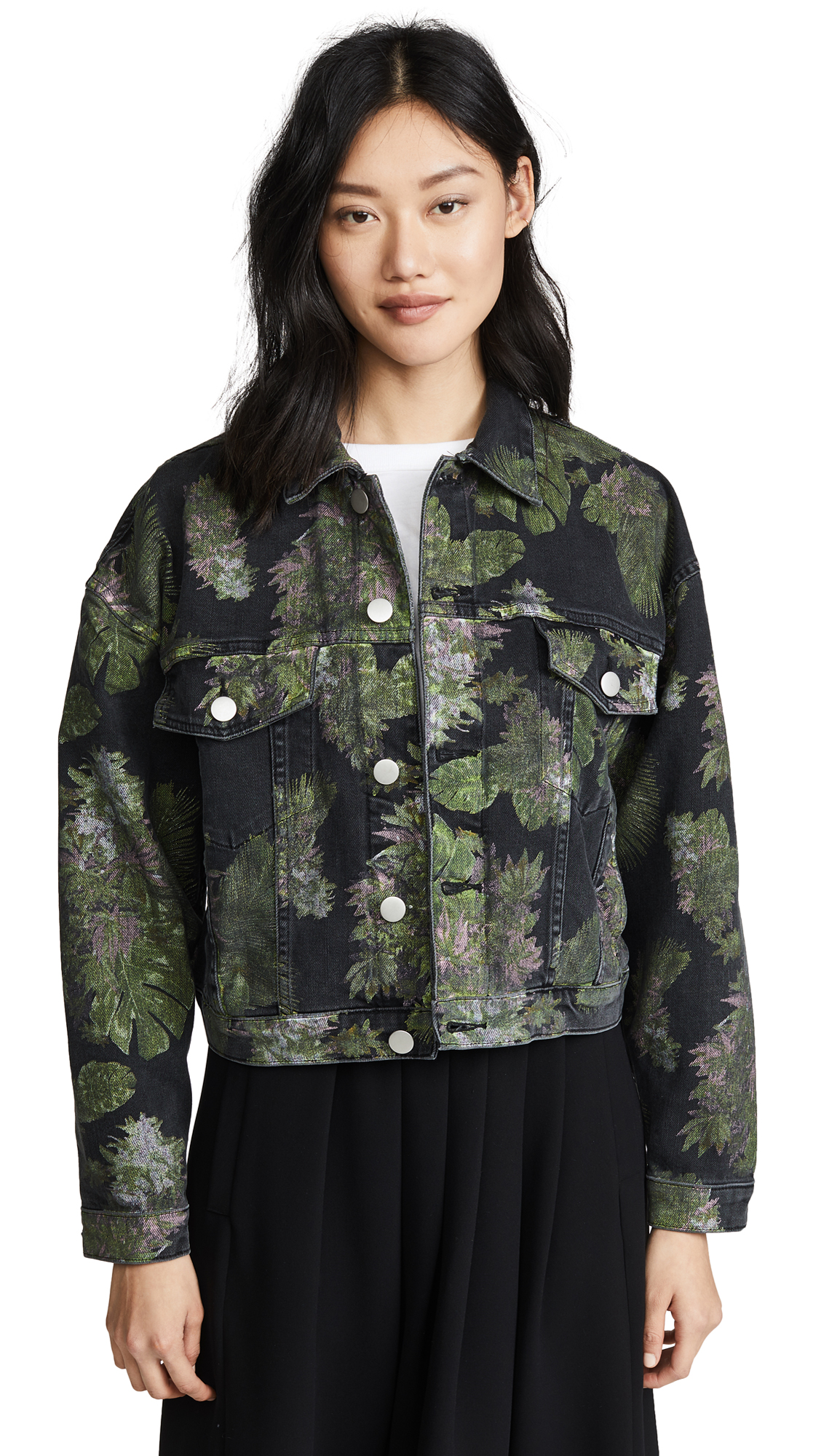 Hudson x Baja East Rei Cropped Jacket In Baja East Weed