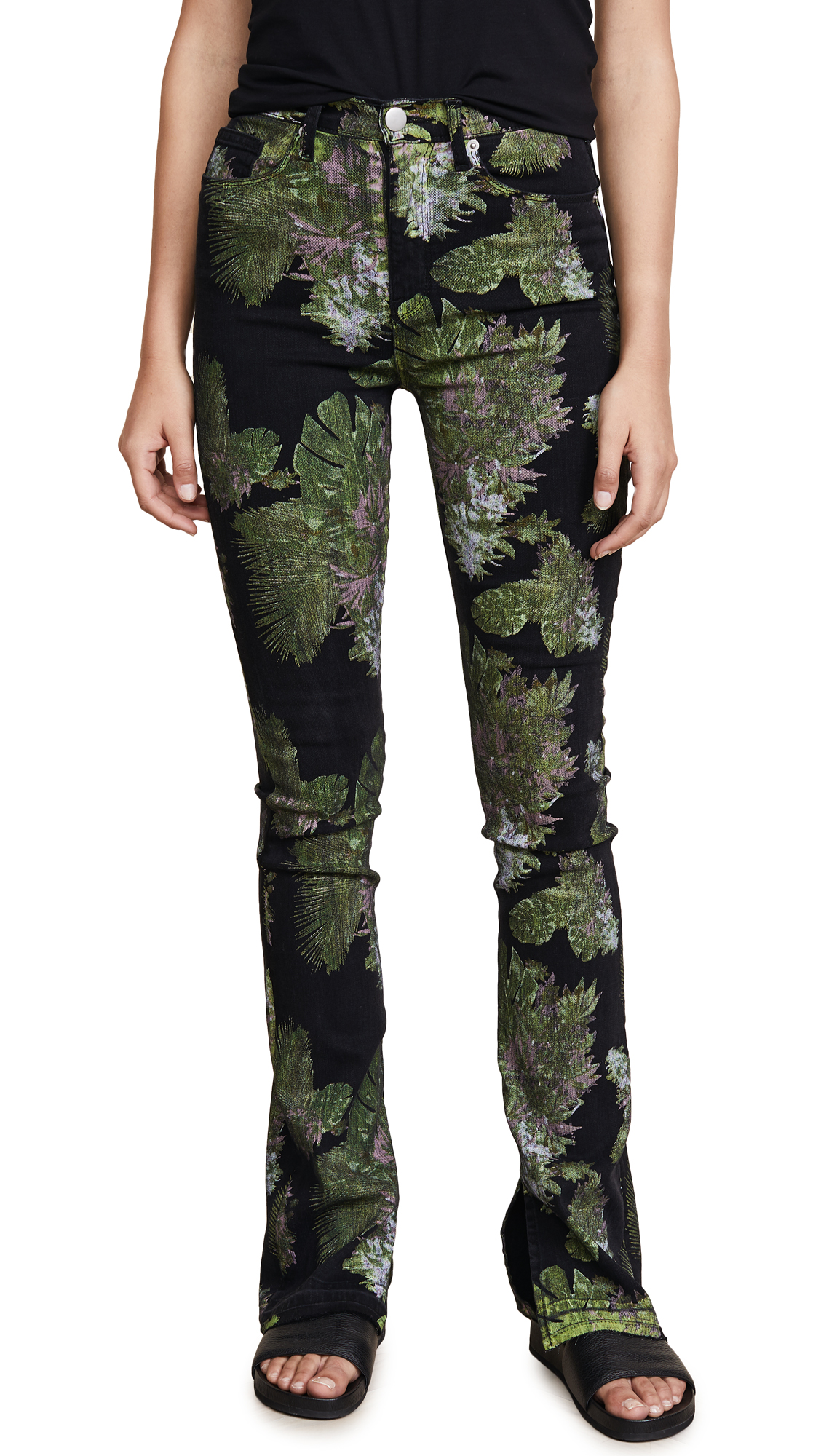 Hudson x Baja East Heartbreaker High Rise Bootcut Jeans In Baja East Weed