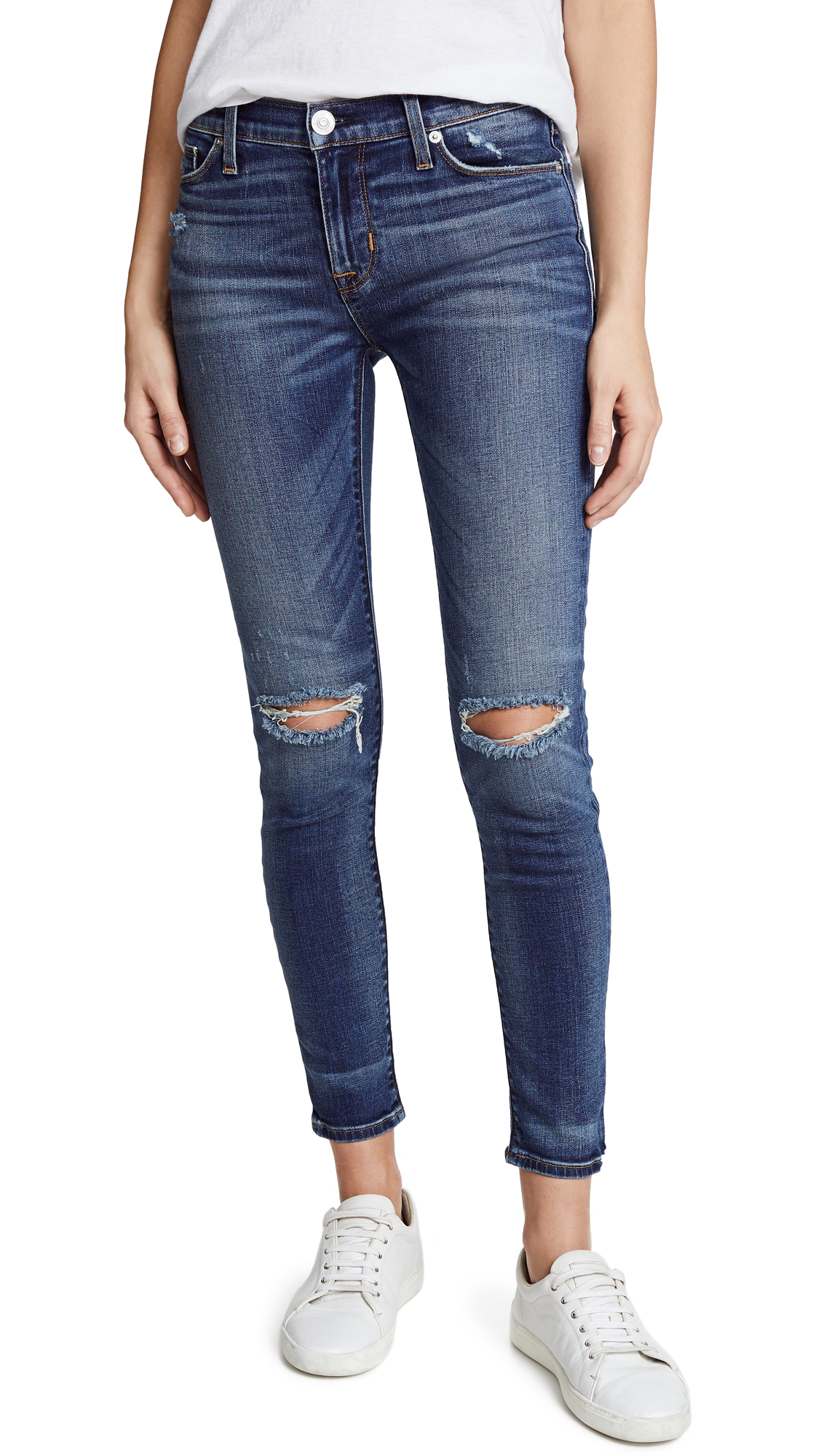 Hudson Nico Mid Rise Super Skinny Jeans In Confession