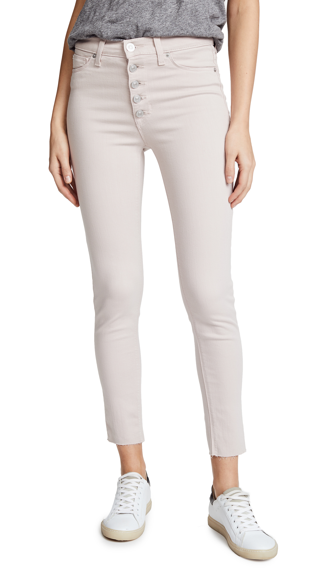 Hudson Barbara High Waist Super Skinny Jeans In Blushing
