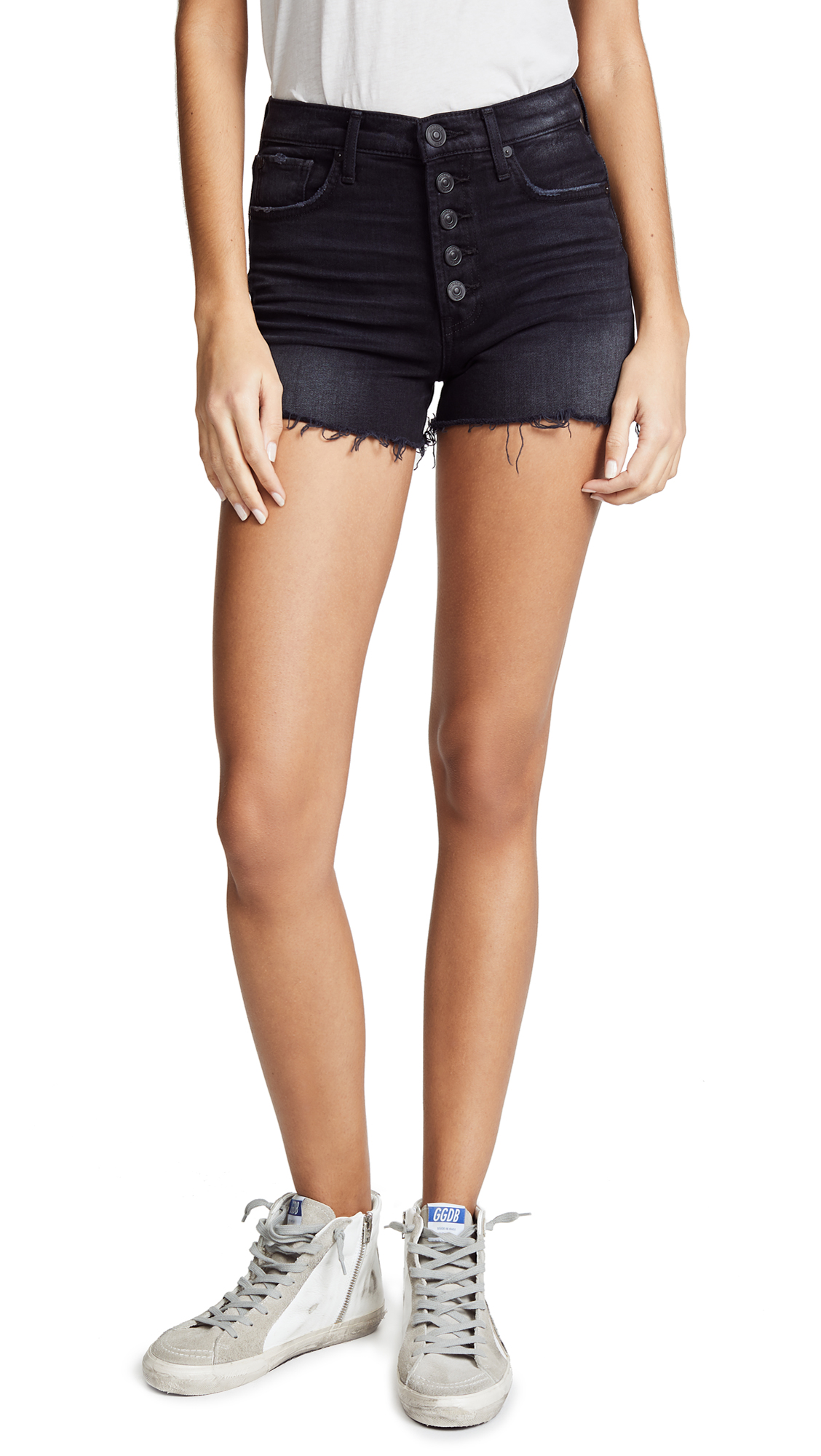 Hudson Zoeey High Rise Cutoff Shorts In Teenage Riot