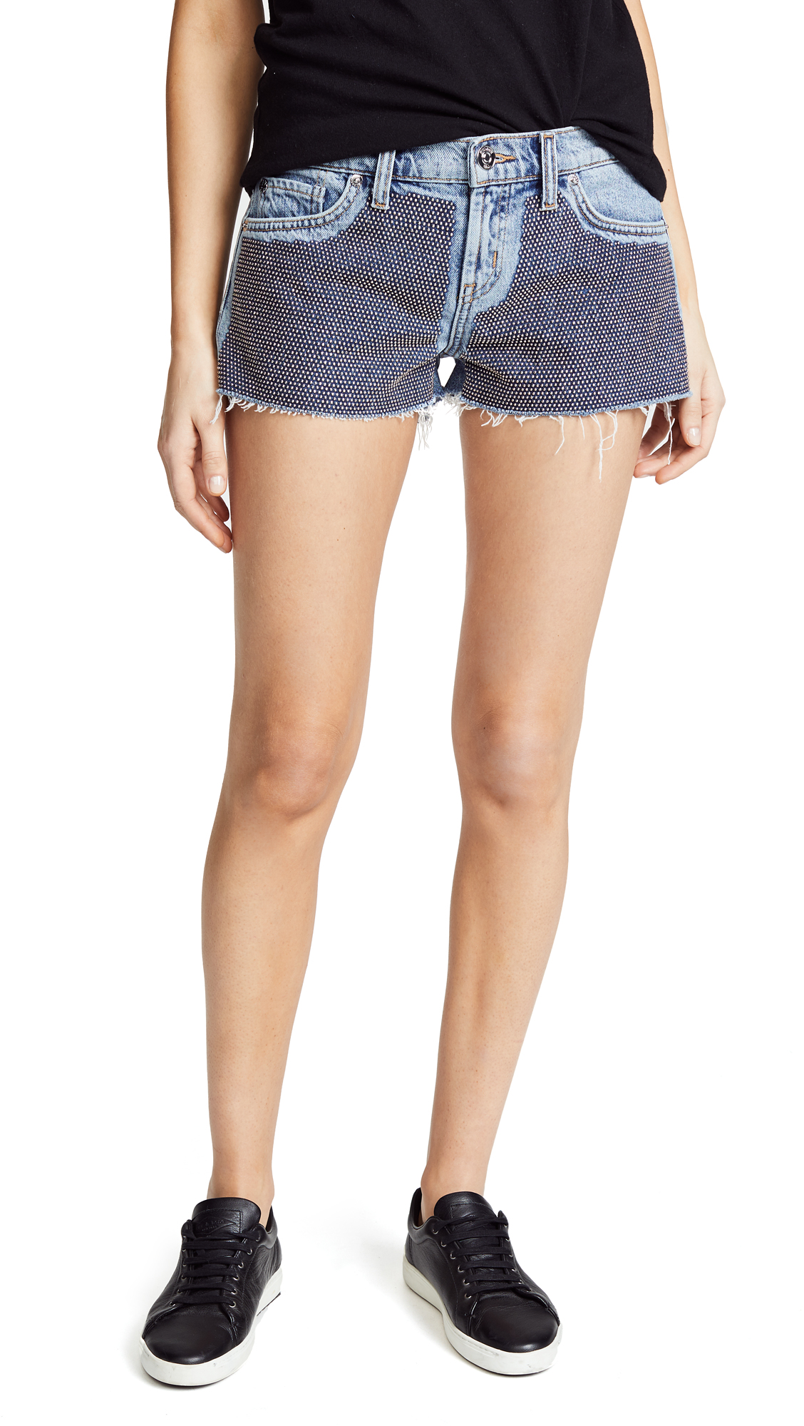 Hudson Kenzie Cutoff Shorts In Metal Mark