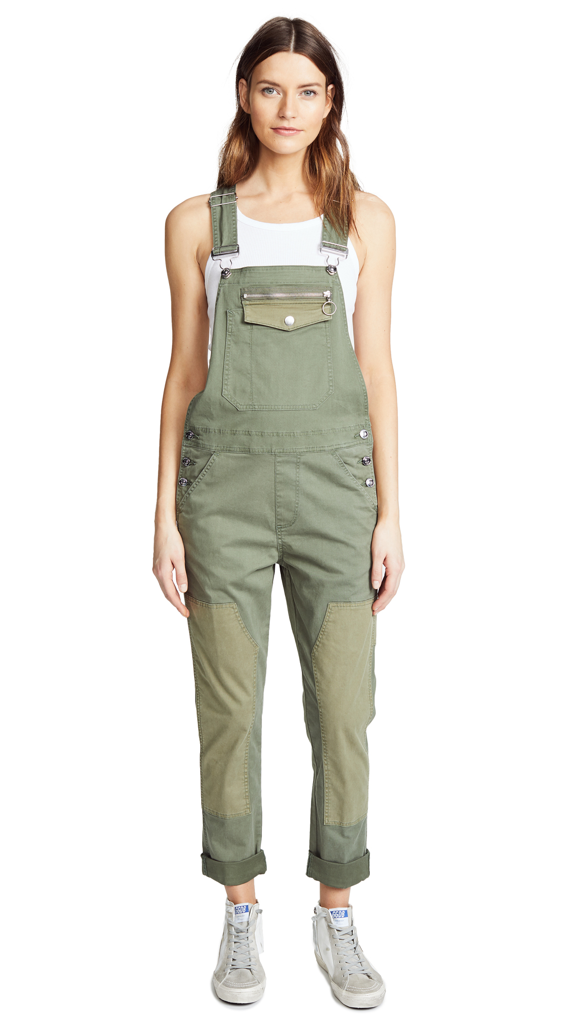 Hudson Workwear Overalls In Olive Remix