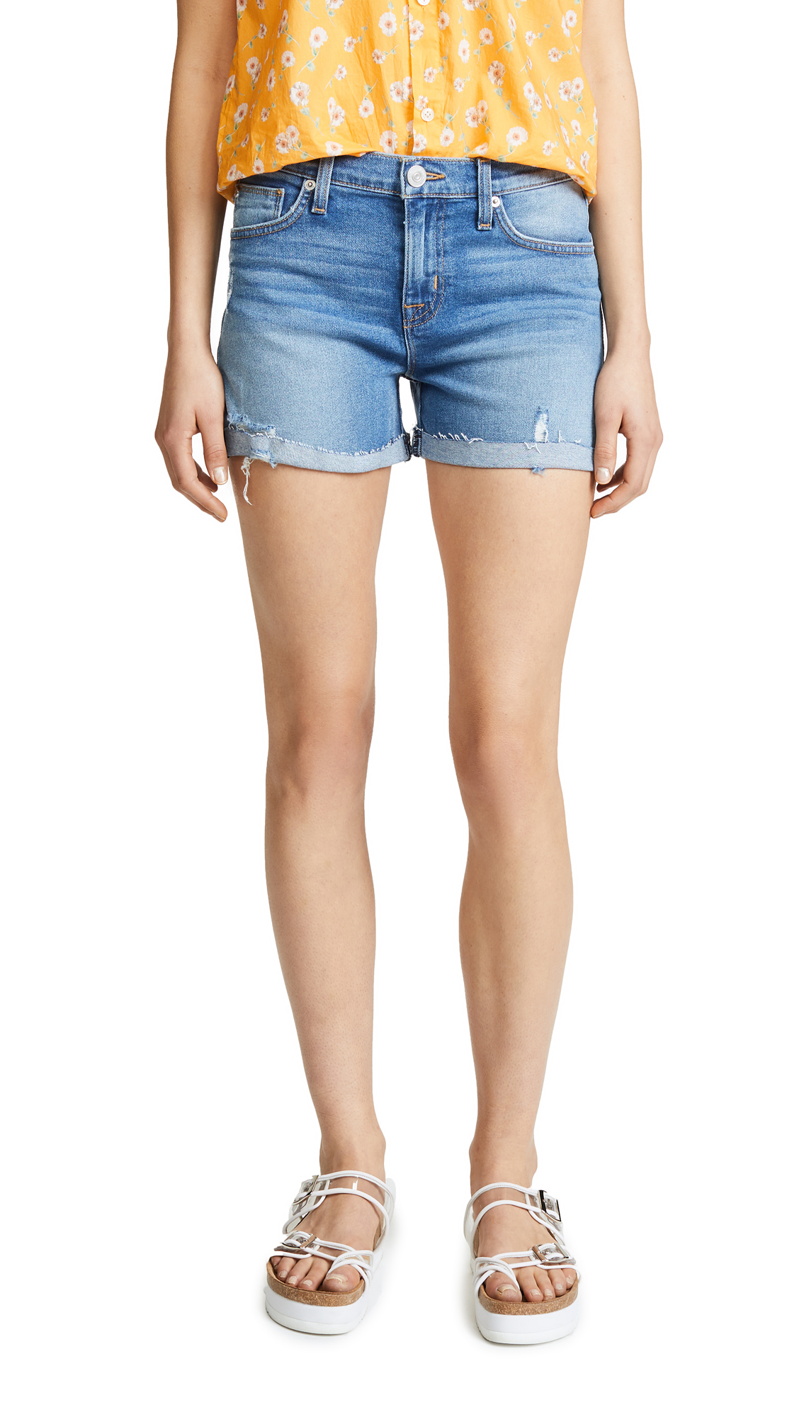 Hudson Valerie Cutoff BF Shorts In Proxy