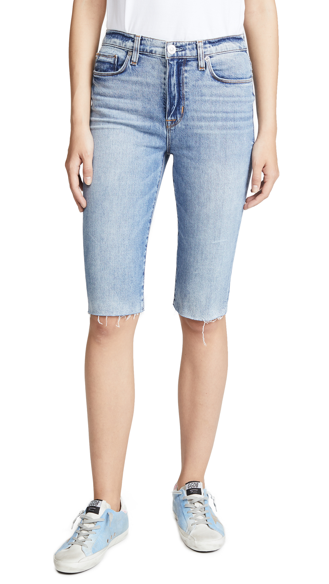 Hudson Zoeey Cutoff Boyfriend Shorts In Just For Kicks