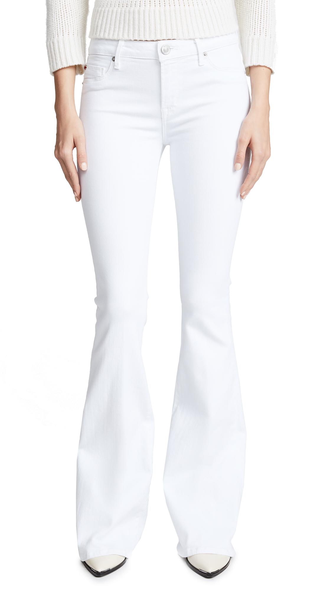 Mia Mid Rise White Jeans