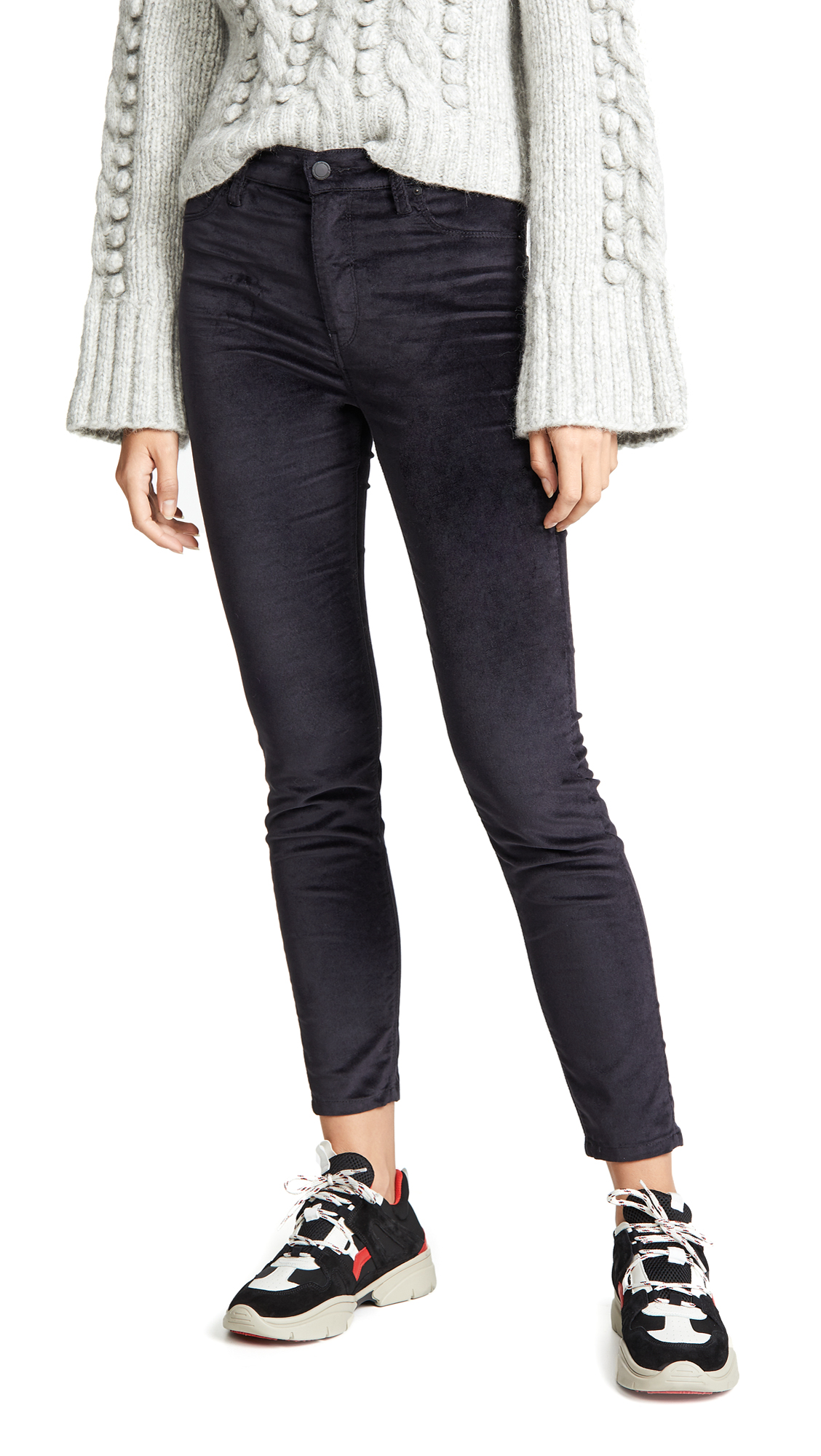 Hudson Barbara High Waist Skinny Jeans In Granite