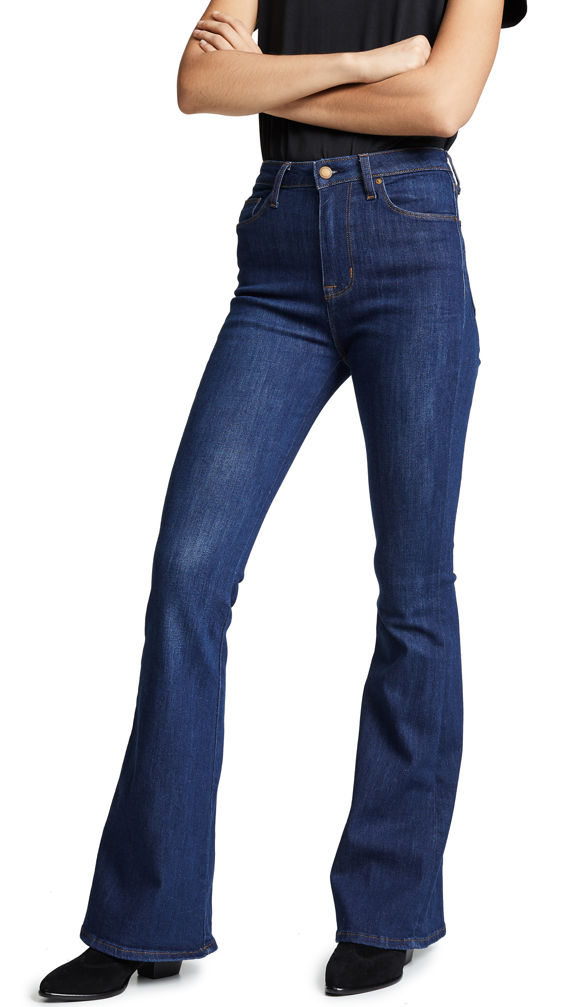 Holly High Rise Flare Jeans in Gaines
