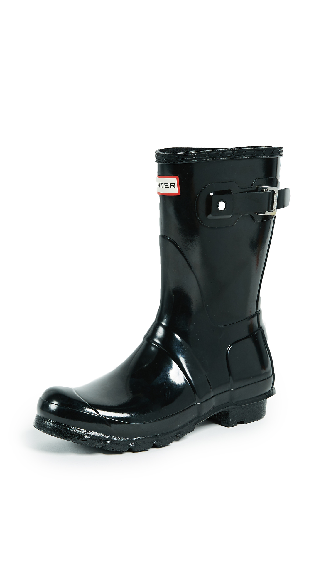Hunter Boots Original Short Gloss Boots - Black